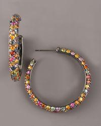 M.c.l  Matthew Campbell Laurenza - Metallic Sapphire Hoop Earrings - Lyst