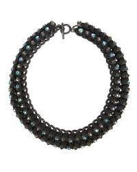AllSaints - Black Anya Necklace - Lyst