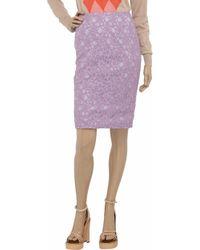 Helene Berman Purple Lace Pencil Skirt