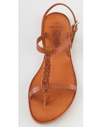 NDC - Brown Jessica Flat Thong Sandals - Lyst