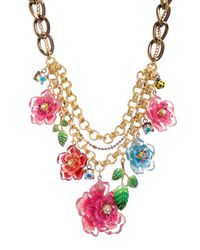 Betsey Johnson   Multicolor Hawaiian Luau Floral Bib Statement Necklace   Lyst