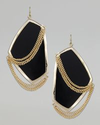 Kendra Scott | Kavita Earrings, Black | Lyst