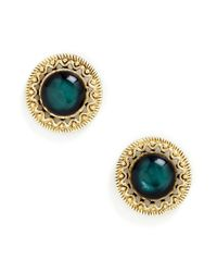 ModCloth | Green Refined Dining Earrings | Lyst