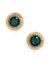 ModCloth - Green Refined Dining Earrings - Lyst
