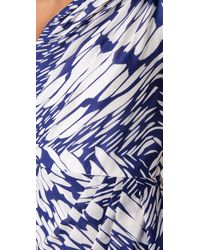 Shoshanna - Blue Julie Acacia Print Dress - Lyst