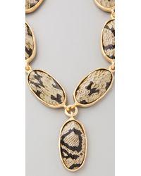 Kenneth Jay Lane Multicolor Snake Print Stone Necklace