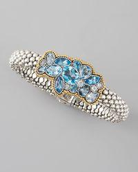 Lagos | Clustered Blue Topaz Rope Bracelet | Lyst