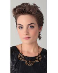 Pamela Love Metallic Three Arch Breastplate Necklace