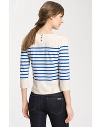 Juicy Couture | Blue Nautical Stripe Sweater | Lyst