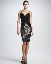 Julian Joyce By Mandalay | Black Sleeveless Embellished Dress | Lyst