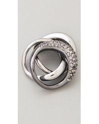 Michael Kors | Metallic Safari Glam Black Diamond Stacking Rings | Lyst