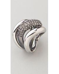 Michael Kors Metallic Safari Glam Black Diamond Stacking Rings