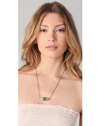Pamela Love Metallic Small Ellipse Necklace