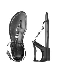 Ralph Lauren Collection - Black Karly Jelly Thong Sandals - Lyst