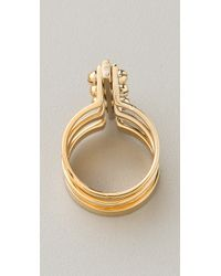 A.L.C. - Metallic Three Section Handcuff Ring - Lyst