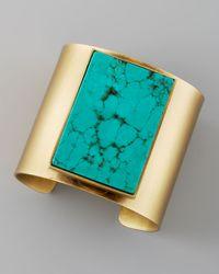 Kelly Wearstler | Metallic Turquoise Cuff | Lyst