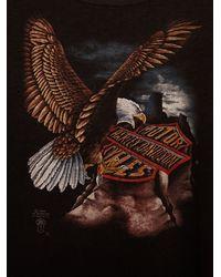 Free People | Black Vintage Harley-davidson Eagle Tee | Lyst