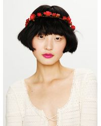 Free People | Red Mulberry Rose Crown | Lyst