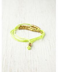 Free People | Green Hallie Neon Wrap Bracelet | Lyst