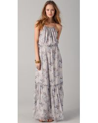 Madison Marcus | Gray Cultivate Floral Maxi Dress | Lyst