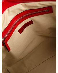 Valentino Red Leather Flower Shoulder Bag