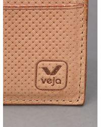 Veja Brown Card Holder for men