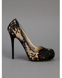 Alexander McQueen Black Lace Covered Pump