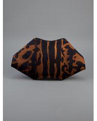 Alexander McQueen Multicolor Tiger De-manta Clutch