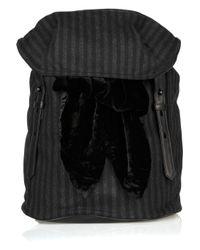 Alexander Wang | Gray Sydney Striped Tweed Backpack | Lyst