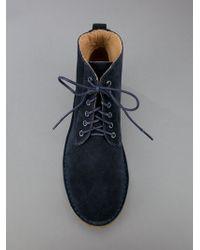 A.P.C. Blue Lace-up Boots for men