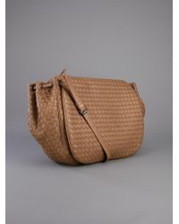 Bottega Veneta Brown Woven Messenger Bag