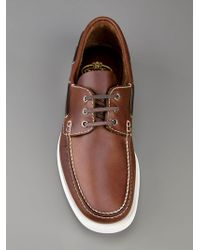 Church's Brown Boat Shoes for men