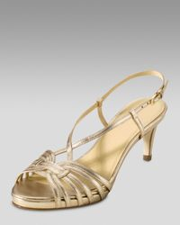 Cole Haan | Metallic Air Violet Strappy Sandals | Lyst