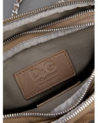Dolce & Gabbana Brown Quilted Leather Bag
