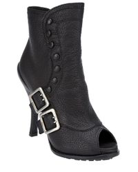 Dior Black Buckled Ankle Boot