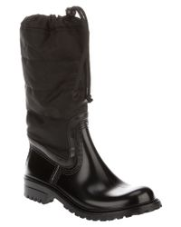 Dolce & Gabbana Black Rubber Boot