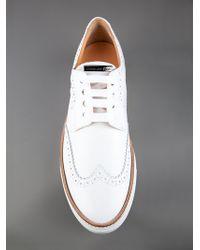 DSquared² White Brogue Sneaker for men