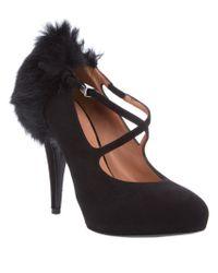 Givenchy Black Mink Fur Trimmed Pumps