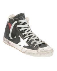 Golden Goose Deluxe Brand Black Francy Hi-top Sneaker for men