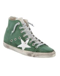 Golden Goose Deluxe Brand Francy Green High Top Sneaker
