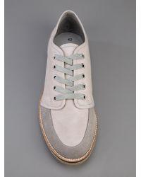 Henrik Vibskov Gray Flat Shoe Grey Suede/leather for men