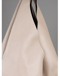 Jil Sander Natural Leather Shopping Bag