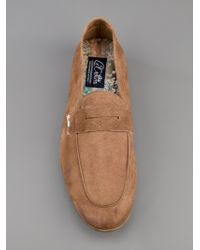 Lecrown Brown Mocassino Suede Loafer for men