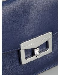 Marc By Marc Jacobs Blue Leather Clutch