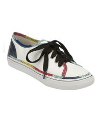 Marc By Marc Jacobs White Leather Plimsoll