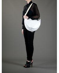 MM6 by Maison Martin Margiela White Half Moon Bag