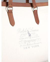 Ralph Lauren Natural Canvas Tote Bag