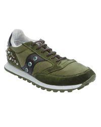 Saucony Green Studded Sneaker for men