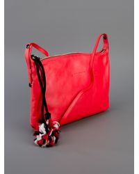 Sonia Rykiel Red Leather Shoulder Bag