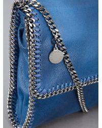 Stella McCartney Blue Falabella Mini Cross-body Bag